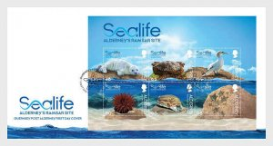 H01 Alderney 2020 Sealife in the Ramsar Area FDC