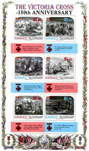 Kiribati Military Medals Stamps 2007 MNH Victoria Cross 150th Anniversary 6v M/S