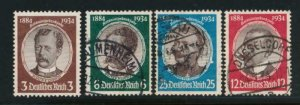 GERMANY 432-435 USED 3PF IS NO GUM
