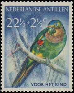 1958 Netherlands Antilles #B35-B38, Complete Set(4), Hinged