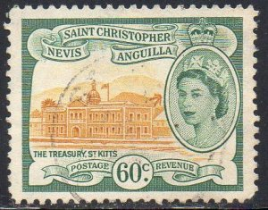 St Christopher, Nevis & Anguilla 1954 60c The Treasury, St Kitts  used