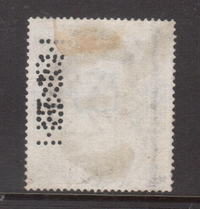 Great Britain #74 VF Used Perfin