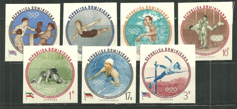 Dominican Republic MNH 525-8, C115-6 17th Olympics Rome
