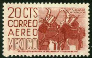 MEXICO C220k, 20cents 1950 Definitive 2nd Ptg wmk 300 PERF 11 1/2X11 MNH F-VF