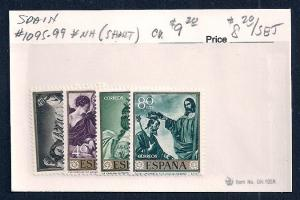 SPAIN Sc#1095/1099 Mint Never Hinged Short Set