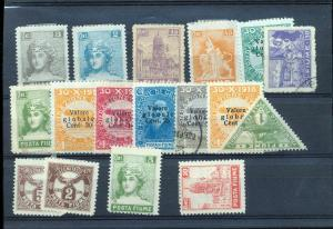 FIUME 1918/22 M&U Collection on Pages(Appx 35+Items) (Ref DD654