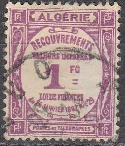 Algeria #J16 F-VF Used CV $4.00 (A16526)