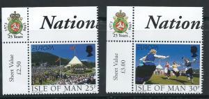 Isle of Man MUH SG 817 - 818  Corner margin Copy