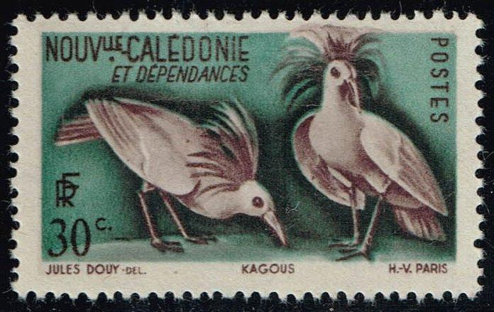New Caledonia #277 Kagu Birds; Unused (0.45)