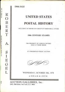 United States Postal History including an Important Group...