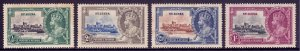 St. Lucia - Scott #91-94 - MH - Heavy toning spots, gum toning - SCV $16