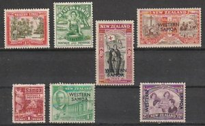 #143,166,181,191-4 Western Samoa Mint OGH