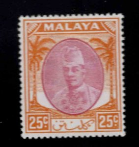 MALAYA Kelantan Scott 59 MH*1951 Sultan Ibrahim stamp