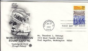 1992, World Columbian Stamp Expo, PCS, FDC (D15364)