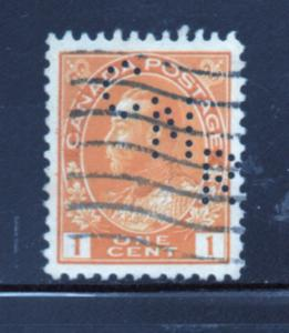 Scott # 105 perfin TY1 used   single