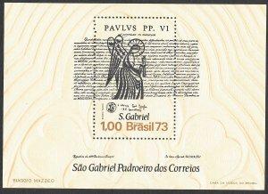 Doyle's_Stamps: 1973 Brazilian Nat. Exhibition Souvenir Sheet, cv $12.50   (L34)
