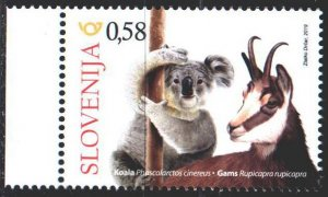Slovenia. 2019. 1398. Koala, goat, fauna. MNH.