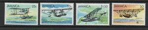 Jamaica - Sc# 573 - 576 MNH / Aircraft  - Lot 0419218