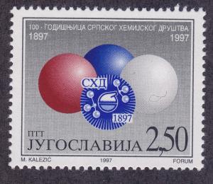 Yugoslavia 2385 MNH 1997 Serbian Chemical Society Issue VF