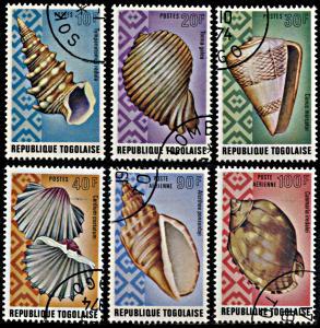 Togo 881-884,C230-C231, CTO, Seashells