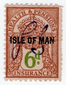 (I.B) George V Revenue : Health & Pensions Insurance 6d (Isle of Man)