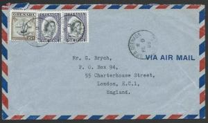 GRENADA 1965 airmail cover to UK, nice franking............................51436