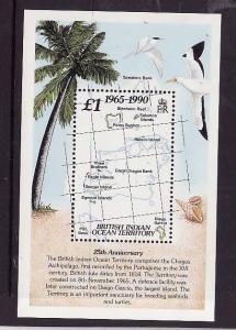 BIOT-Sc#110-unused NH sheet-Flags-Territory anniversary-1990-