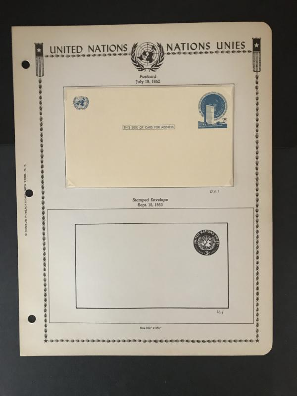 United Nations-NY  Collection-On album pages-See Description-76 Pics!