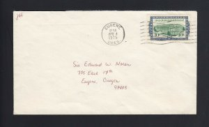 OREGON: Eugene 1975 Mailed with R733 10c Documentary - Proper RATE
