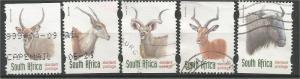 SOUTH AFRICA, 1998, used set of 5, Fauna Antilopes: Scott 1032-1036