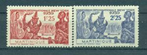 Martinique sc# 186-187 (2) mh cat value $2.35