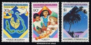 Cocos Islands Scott 169-171 Mint never hinged.