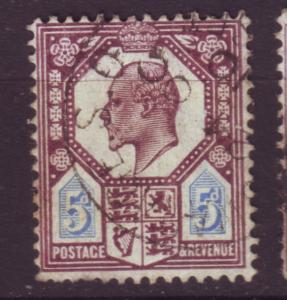 J19697 Jlstamps 1902-11 great britain used #134 king