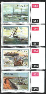 South west africa. 1987. 613-16. Shipwrecks, ships. MNH.