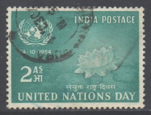 India Scott 252- SG352, 1954 United Nations Day 2a used