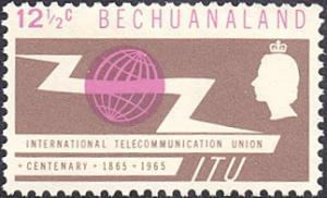 Bechuanaland Protectorate # 203 mnh ~ 12½¢ ITU Centenary