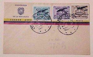 ECUADOR FLIGHT BLACK & 2 VIOLET OVERPRINTS 1930's UNLISTED