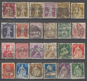 COLLECTION LOT # 3865 SWITZERLAND 24 STAMPS 1882+ CV+$18
