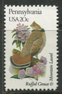 USA - Scott 1990 - State Birds & Flowers - 1982 - MNG - Single 20c Stamp