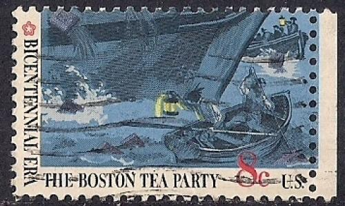 1482 8 Cent Boston Tea Party Stamp Used VF HipStamp