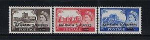 BAHRAIN SCOTT #96-98 1955 SURCHARGES - MINT NEVER HINGED