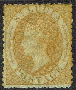ST LUCIA 1864 QV (4D) WMK CROWN CC PERF 12.5