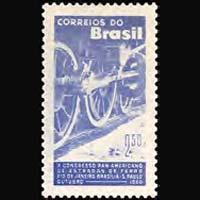 BRAZIL 1960 - Scott# 913 Railroad Cong. Set of 1 NH