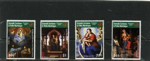 GRENADA GRENADINES 2007 Sc#2689-2692 CHRISTMAS PAINTINGS SET OF 4 STAMPS MNH