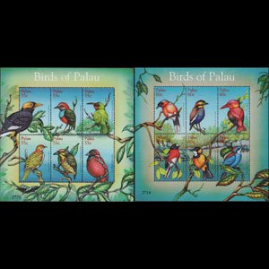 PALAU 2001 - Scott# 639-40 Sheets-Birds NH