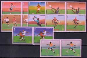 Equatorial Guinea 1977 Mi#1153B/1160B Argentina 78 World Cup PAIR  IMPERF(16)MNH