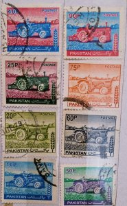 Pakistan:1978:(20% reduced price)Tractors:Set of 8 Single Stamps-Used