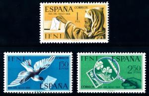 [68008] Spanish Colony IFNI 1968 Stamp day Mail delivery Dove Flower  MNH