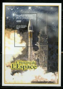 GUINEA HISTORY OF SPACE SET OF TWO SOUVENIR  SHEETS  MINT NH