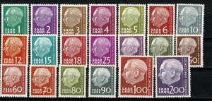 GERMANY SAAR 1957 FULL SET of 20 SG377-91 MH Wmk. 294 P.14 SUPERB CONDITION